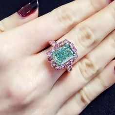The Aurora Green, weighing in at 5.03 carats. It was sold by Christie's for $16.8 million, setting a record for a diamond of its class.