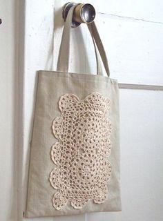 #Ecobag com #croche, a nova moda! #CoatsCorrente