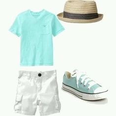 Summer outfit I could TOTALLY see my Handsome son looking SO CUTE in!! ☆
