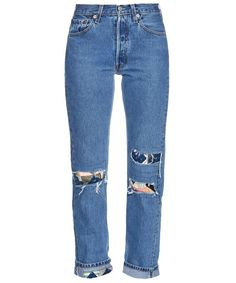 Lower on the DIY denim makeover list but still pretty cool and totally easy. 6 Patchwork Jeans That Prove This Denim Trend Is Making a Comeback - Bliss and Mischief Patchwork Jeans  - from InStyle.com