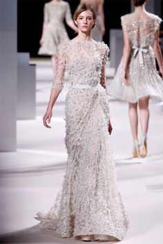 Where in the world would I wear this? Gotta find a place to go. Or make up a really good excuse for wearing it to the grocery store. Elie Saab Haute Couture Spring Summer 2011.