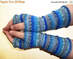 SALE 15% OFF Knit Fingerless gloves Knitted by handicraftland