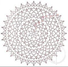 Diagramfor crochet dream catcher .☀CQ #crochet