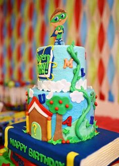 Super Why Birthday cake by Shandi Cakes