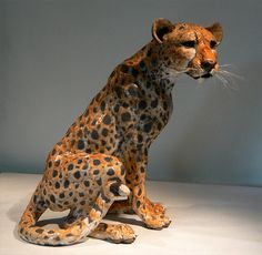 cheetah - raku sculpture | Flickr - Photo Sharing! By Leslie D McKenzie