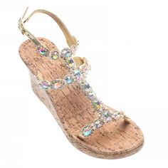 82511a40b6dd4 Handmade Bridal Flat   Wedge Jeweled Sandals