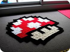 not a pattern just an idea... surround with black squares to make an actual blanket