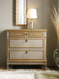 Painted Regency Chest by Modern History  36W X 33.5H X 17.5D