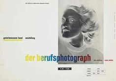 """""""der berufsphotograph"""" Poster, photomontage and letterpress, Designed by Jan Tschichold, printed by Benno Schwabe & Co., Basel, 1938 Basel, Laszlo Moholy Nagy, How To Influence People, Museum, Vintage Graphic Design, Publication Design, Modern Typography, Penguin Books, Exhibition Poster"""