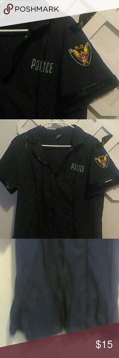 Costume Costume wear Dark blue police dress.Play time oh yea.Surprise ur man .Can fit a xl up to 3x Mystery house Dresses Maxi