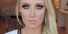 Makeup for blue eyes, the perfect makeup tutorial for blonde hair.   http://makeuptutorials.com/smokey-eye-makeup-tutorial-blue-eyes/