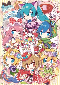 VOCALOID Alice In Wonderland Series, Vocaloid Kaito, Vocaloid Characters, Group Of Friends, Image Boards, Manga, Gallery, Artwork, Pictures