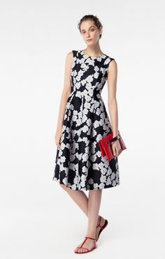 I'd like a cardigan or jacket with this, but love the fit of the dress and fabric