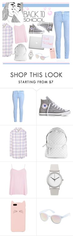 """""""back to school"""" by veronica7777 ❤ liked on Polyvore featuring Current/Elliott, Converse, Stampd, Dorothy Perkins, Normal Timepieces, Kate Spade, Charlotte Russe, women's clothing, women's fashion and women"""