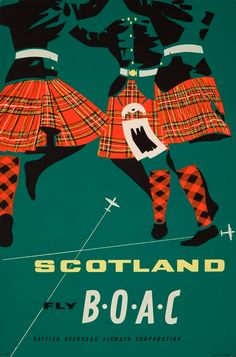 1963 BOAC advertisement for flights to Scotland.