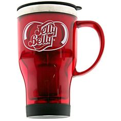 Jelly Belly's red logo coffee mug. Perfect for hot and cold liquids! Other