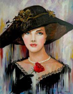 "Saatchi Art Artist Anna Rita Angiolelli; Painting, ""Belle Epoque"" #art"