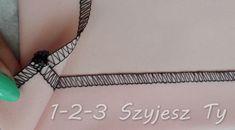 Podwijanie rogu spódnicy na raz – 1-2-3 Szyjesz Ty Clothes Hanger, Coat Hanger, Clothes Hangers, Clothes Racks