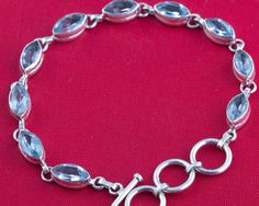 Awesome 925 #silver #handmade #Blue #Topaz  #Bracelet We deals in all types of jewelry like #Children's Jewelry, #Engagement & Wedding, #Ethnic, Regional & Tribal, #Fashion Jewelry, #Fine Jewelry, #Handcrafted, Artisan Jewelry,#Jewelry Design & Repair, #Men's Jewelry, #Vintage & Antique Jewelry, #Wholesale Lots so please ask us if you have any enquiry
