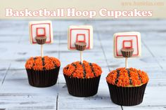 Basketball / NBA - Basketball Hoop Cupcakes