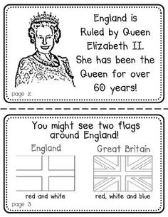 England Booklet (a country study! English Primary School, Teaching English, Little Passports, London With Kids, Geography For Kids, World Thinking Day, Uk Flag, English Activities, English Vocabulary