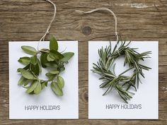 When you get the hang of making tiny wreaths, crank out of bunch of these DIY cards and/or ornaments by Frolic.