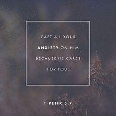 Verse of the Day I Peter 5 NKJV http://bible.com/114/1pe.5.7.NKJV