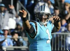 #Carolina_Panthers #Cam_Newton with his signature #First_Down signal #NFL #Football