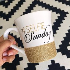 Hey, I found this really awesome Etsy listing at https://www.etsy.com/listing/203234721/personalized-coffee-cup-glitter-dipped
