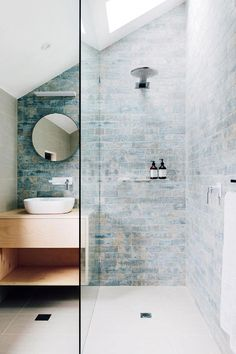 Curbless showers and wet baths give us LOTS more space in a spall bathroom! Ideas for Small Bathroom Small Bathroom Decor IdeasTiles Ideas for Small Bathroom Ideas for Small Bathroom Diy Bathroom, Bathroom Inspo, Bathroom Inspiration, Master Bathroom, Bathroom Ideas, Bathroom Tiling, Gold Bathroom, Skylight Bathroom, Cream Bathroom
