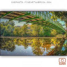 New Hampshire  ✨ Photographer @cke_photo ✨  #ScenesofNewEngland  Pic of the Day  10.16.15 ✨ C o n g r a t u l a t i o n s ✨ #scenesofNH #newhampshire_potd #swingingbridge #milfordNH #souheganriver #bridges_of_instagram  #fallinnh  #newhampshire_bridge  #newhampshire_fallfoliage #neweng...