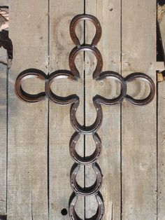 Large horse cross $45.00, horseshoe art