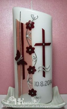 Première Communion, Candels, Candle Sconces, Wall Lights, Christmas, Pink, Baby, Candles, Pintura