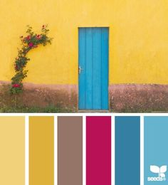 Amy tracy 39 s south by southwest wedding color palette for Blue and yellow paint combinations