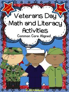 $5 Veterans Day Math and Literacy Activities (Common Core Aligned)