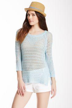 Love Token Open Knit Sweater