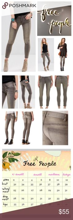 """Free People Murray Wash Ankle Skinny Jeans.  NWT. Free People Murray Wash Ankle Stretchy Skinny Jeans, 71% cotton, 21% polyester, 2%!spandex, machine washable, 31"""" waist, 8.5"""" front rise, 13.5"""" back rise, 27"""" inseam, 11"""" leg opening all around, stretchy denim, fading, whiskering,  five pockets, ankle length, belt loops, zip fly button front closure, measurements are approx.  NO TRADES Free People Jeans Skinny"""