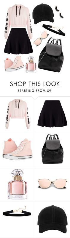 """Untitled #1"" by andiniravaziaa ❤ liked on Polyvore featuring Miss Selfridge, Converse, Witchery, Guerlain and rag & bone"