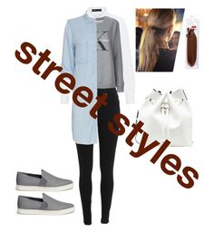 """""""Street styles new York style xx"""" by z8jay9 on Polyvore featuring Hallhuber, Calvin Klein Jeans, Rails, Vince, Balmain, Sole Society, StreetStyle, Newyork, ck and layer"""