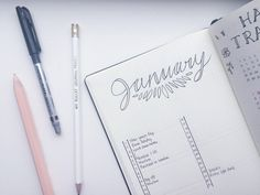 Bullet Journal: Out with the Old, In with the New! January Monthly log and 2017 setup| It's Sarah Ann