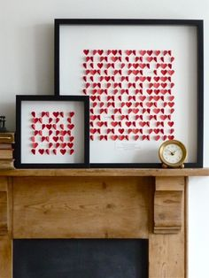 Cool artwork made with folded paper hearts <3 by corinne