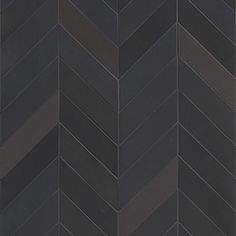 Mews - Soot - Small Chevron - Porcelain Tile