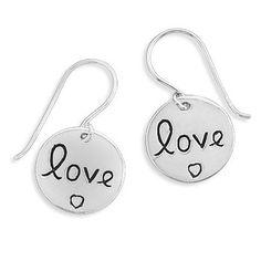 Sterling Silver Love Earrings
