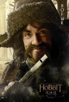 BOFUR from the Hobbit | Absolutely splendid character, and one of my favorite film adapted Hobbits | James Nesbitt was born and raised in the Coleraine area of Northern Ireland, UK.