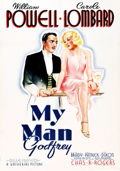Watch My Man Godfrey with MovieZoot, free streaming movies online. My Man Godfrey is a 1936 American comedy-drama film directed by Gregory La Cava. Old Movie Posters, Classic Movie Posters, Cinema Posters, Movie Poster Art, Classic Movies, Old Movies, Vintage Movies, Great Movies, Awesome Movies