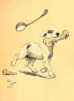 Cecil Aldin  A Dog Day Illustration from by VandRVintagePrints, £3.99