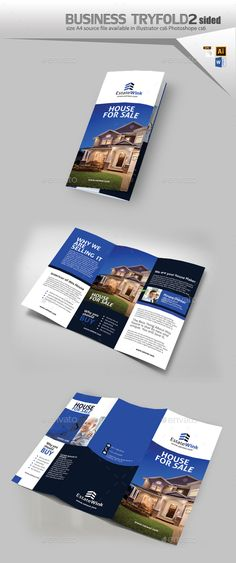 Brochure – Real Estate Bi-Fold Dl | Brochures, Real Estate And