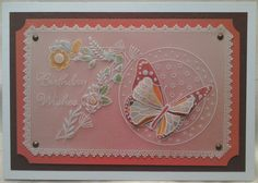 Groovi Plates 70th birthday card - by Lynne Lee