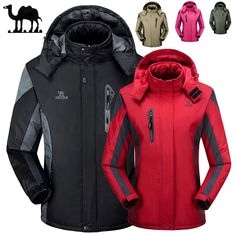 Ski Jackets Men and Women Thermal Warmth Waterproof Rain Coat Outdoor Hiking Jacket Winter Sports Snowboard Skiing Snow Jackets Baby Raincoat, Raincoat Outfit, Hooded Raincoat, Hiking Jacket, Rain Jacket, Ski Jackets, Winter Jackets, Thermal Jacket, Raincoats For Women