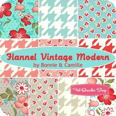 Vintage Modern Flannel Yardage  Bonnie & Camille for Moda Fabrics